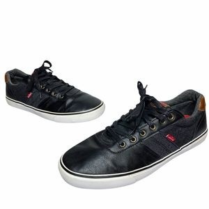 Levi's | Miles Black Grey Cacti Denim Sneakers